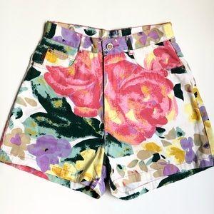 Vintage | Super High-waisted Floral Wedgie Shorts
